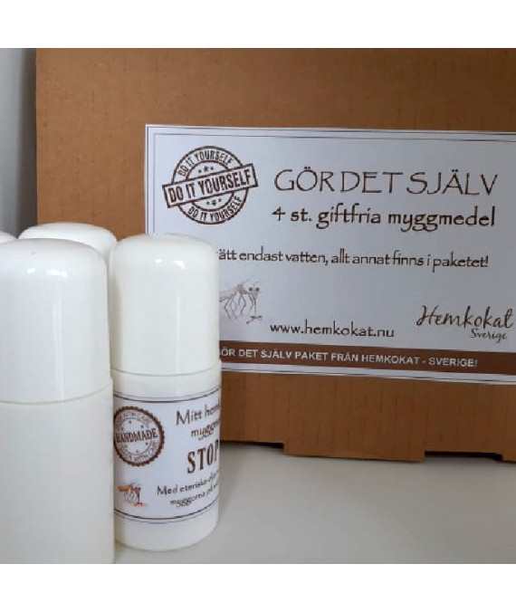 DIY - Gör det själv paket, giftfritt myggmedel