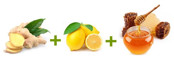 ingefära citron honung vatten